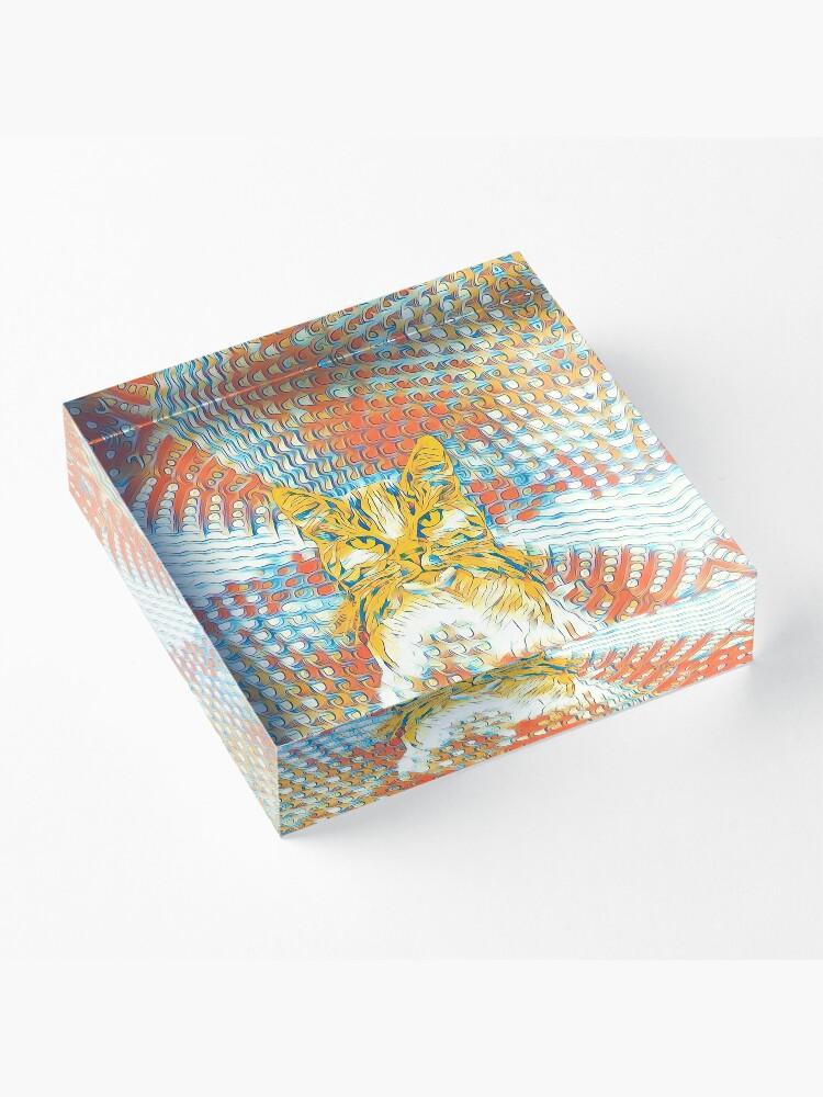 Alternate view of Yellow Cat Acrylic Block