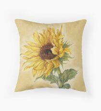 Shiny Sunflower Throw Pillow