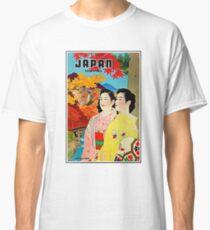 Japan, two geisha girls, vintage travel poster Classic T-Shirt