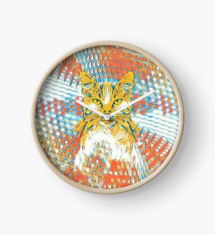 Yellow Cat Clock