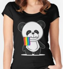 Gay Pride Panda Shirt Women's Fitted Scoop T-Shirt