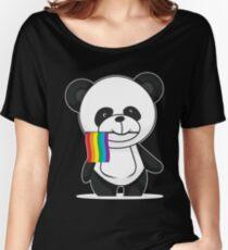 Gay Pride Panda Shirt Women's Relaxed Fit T-Shirt