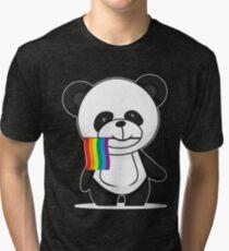 Gay Pride Panda Shirt Tri-blend T-Shirt