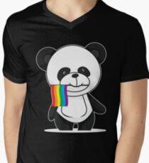 Gay Pride Panda Shirt Men's V-Neck T-Shirt