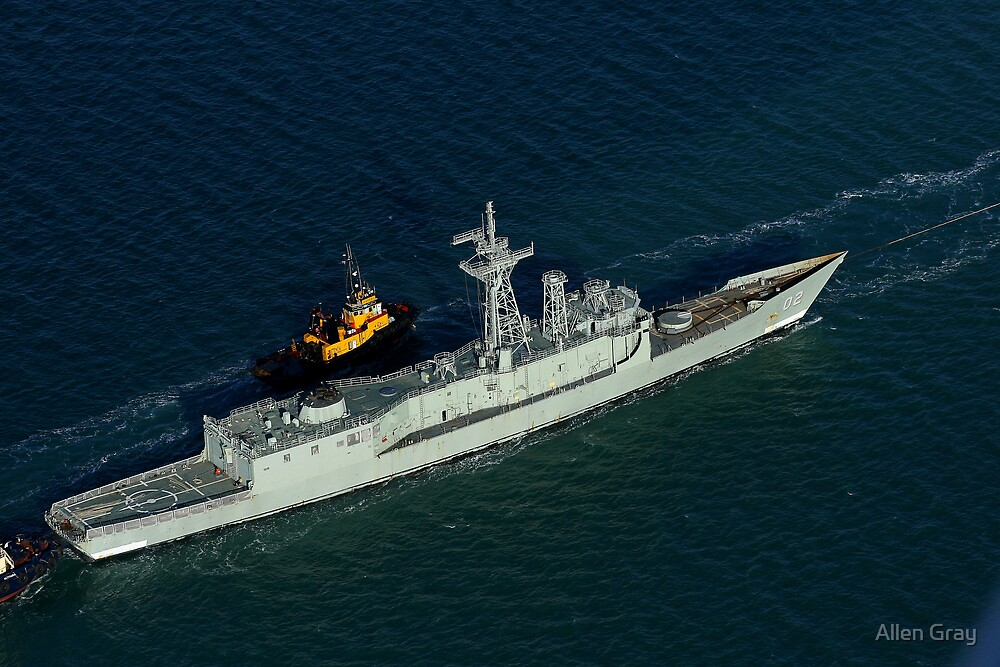 ex-Canberra, Port side view by Allen Gray
