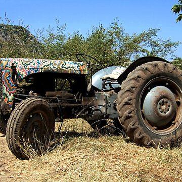 Vintage Tractor, Butterfly Valley, Turkey by zuluspice