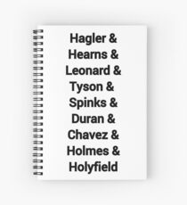 80s favourite boxers Tyson Spiral Notebook