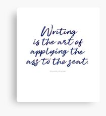 The Art of Writing Canvas Print