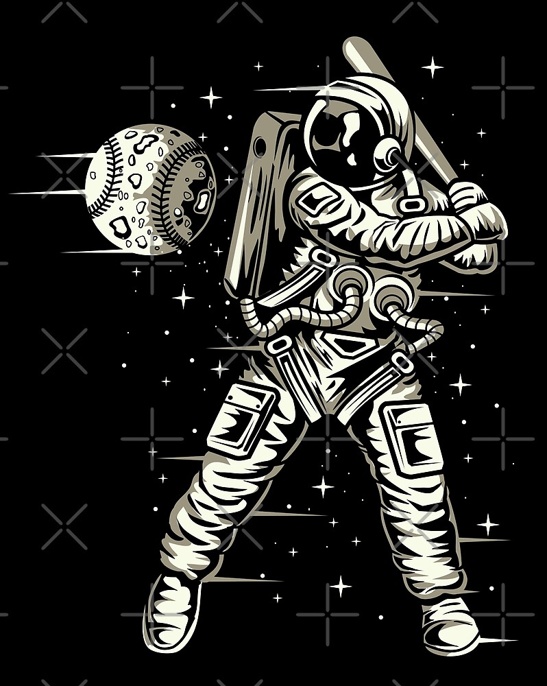 Space Baseball Astronaut by augustinet