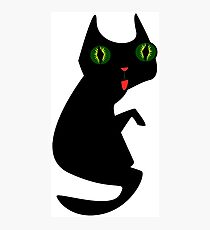 Ugly Blact Cat Photographic Print