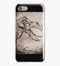 Dragon with a long tongue iPhone Case/Skin