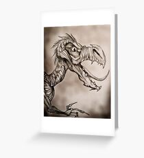 Dragon with a long tongue Greeting Card