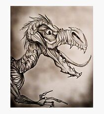 Dragon with a long tongue Photographic Print