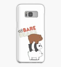 We Bare Bears Cartoon - Bear Stack - Grizz, Panda, Ice Bear Samsung Galaxy Case/Skin