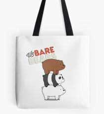 We Bare Bears Cartoon - Bear Stack - Grizz, Panda, Ice Bear Tote Bag