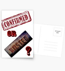 Confirmed or Busted Mythbusters Postcards
