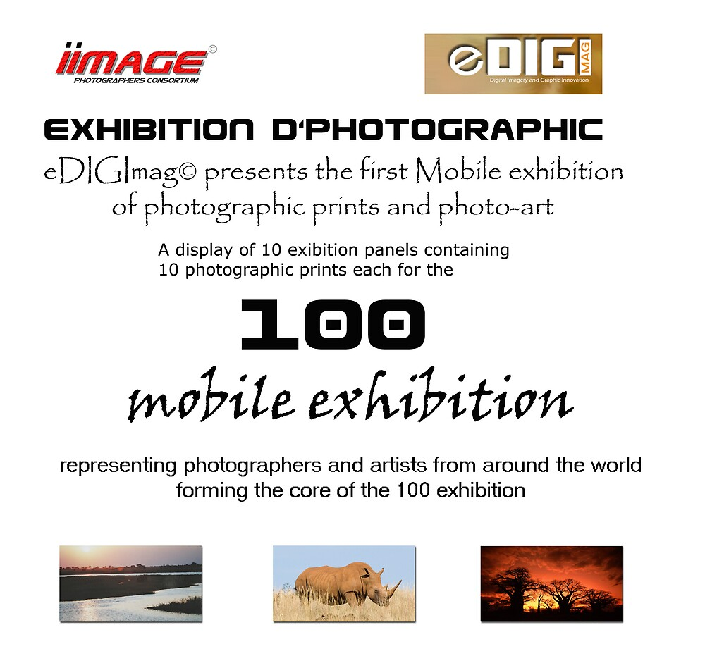 The exhibition d'photographic '100' mobile poster by Paul Lindenberg