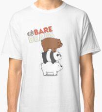 We Bare Bears Cartoon - Bear Stack - Grizz, Panda, Ice Bear Classic T-Shirt