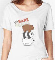 We Bare Bears Cartoon - Bear Stack - Grizz, Panda, Ice Bear Women's Relaxed Fit T-Shirt