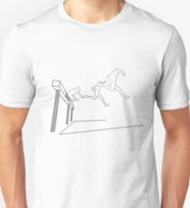 steeplechase outlined Slim Fit T-Shirt