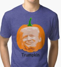 Trump Trumpkin Halloween Tri-blend T-Shirt