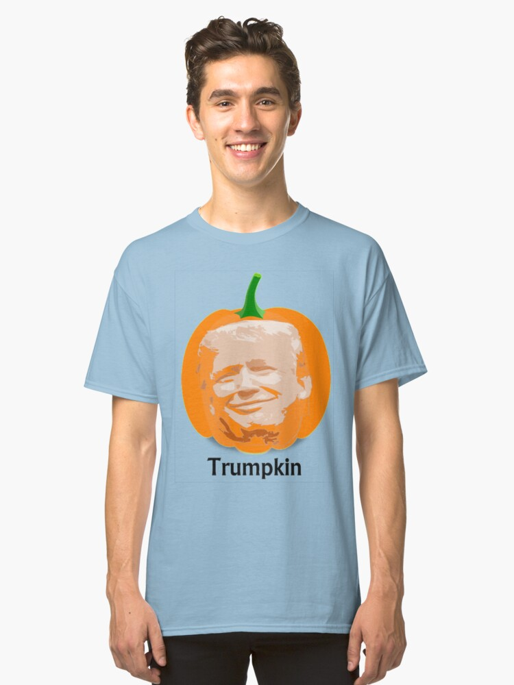 Trump Trumpkin Halloween Classic T-Shirt Front