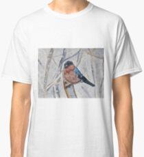 Bullfinch watercolour painting Classic T-Shirt