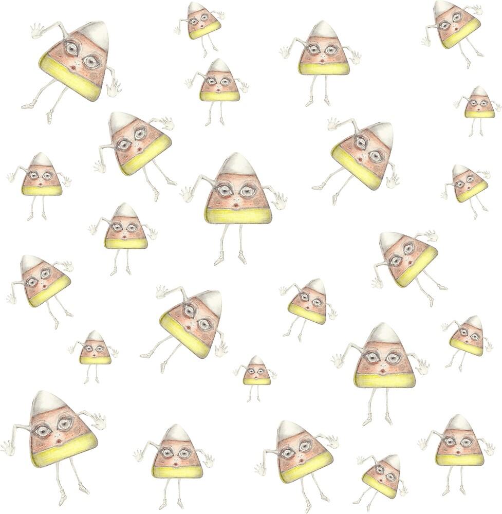Candy Corn Pattern Swatch by PixlPixi