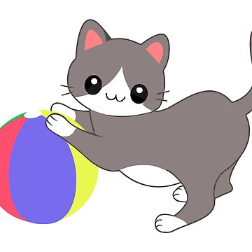Cat and Ball by Benoeaves