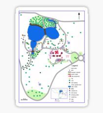 Orienteering map of McAlpin Reserve in Ringwood North Sticker