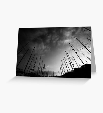 Yachts in the sky Greeting Card