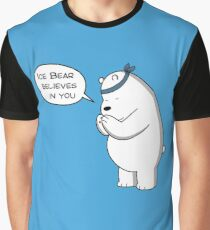 Ice Bear Believes In You - We Bare Bears Cartoon Graphic T-Shirt