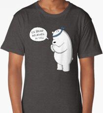 Ice Bear Believes In You - We Bare Bears Cartoon Long T-Shirt