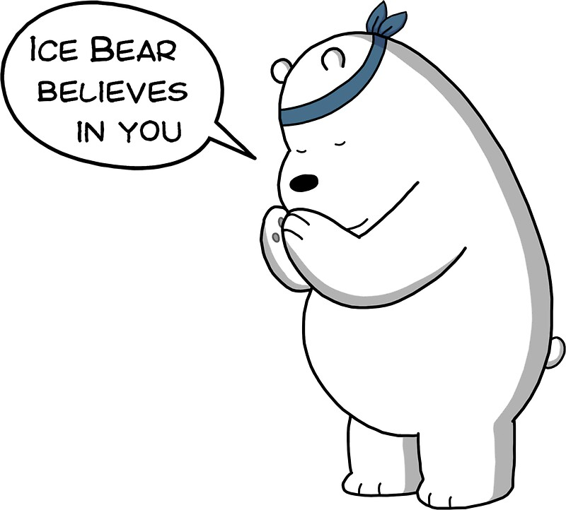 Quot Ice Bear Believes In You We Bare Bears Cartoon