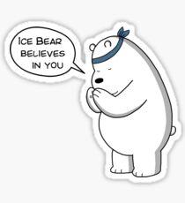 Ice Bear Believes In You - We Bare Bears Cartoon Sticker