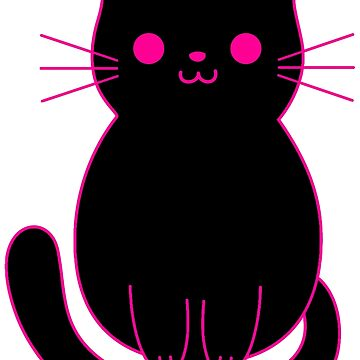 Pinky Black Cat by Betsyjankovic
