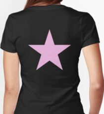 PINK, STAR, Girl Power, Stellar, Red dwarf, Pink on Black T-Shirt