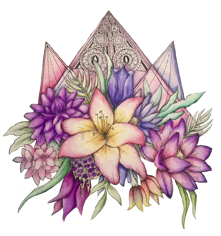 Amira's Flowers by blamberino