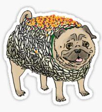 Sushi Pug Sticker