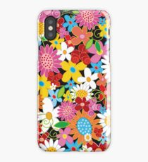 Whimsical Spring Flowers Power Garden iPhone Case/Skin