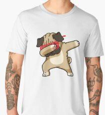 Dabbing Pug Funny Shirt Hip Hop Dabbin Men's Premium T-Shirt