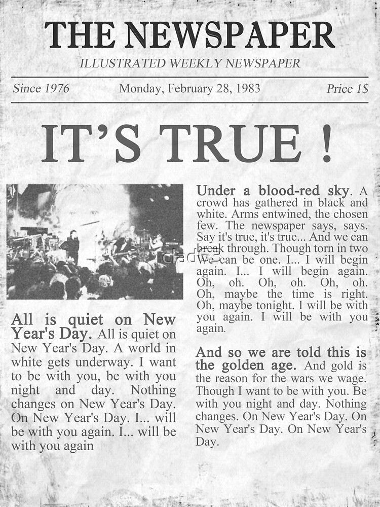 u2 new years day newspaper by clad63