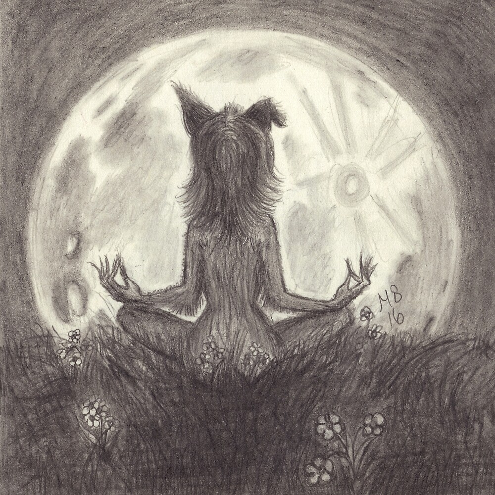 Hippie Werewolf  by PixlPixi