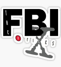 fbi x files Sticker