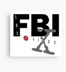 fbi x files Canvas Print