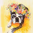 Lovely Pug by Eva C. Crawford