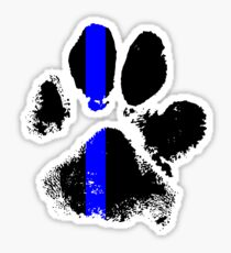 k9 blue line Sticker