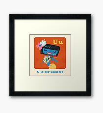 U is for ukulele Framed Print