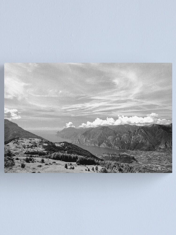 Alternate view of Lago di Garda, view from Monte Stivo, Italy Canvas Print