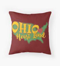 Ohio Heart Land. Ohio has heart.  Throw Pillow